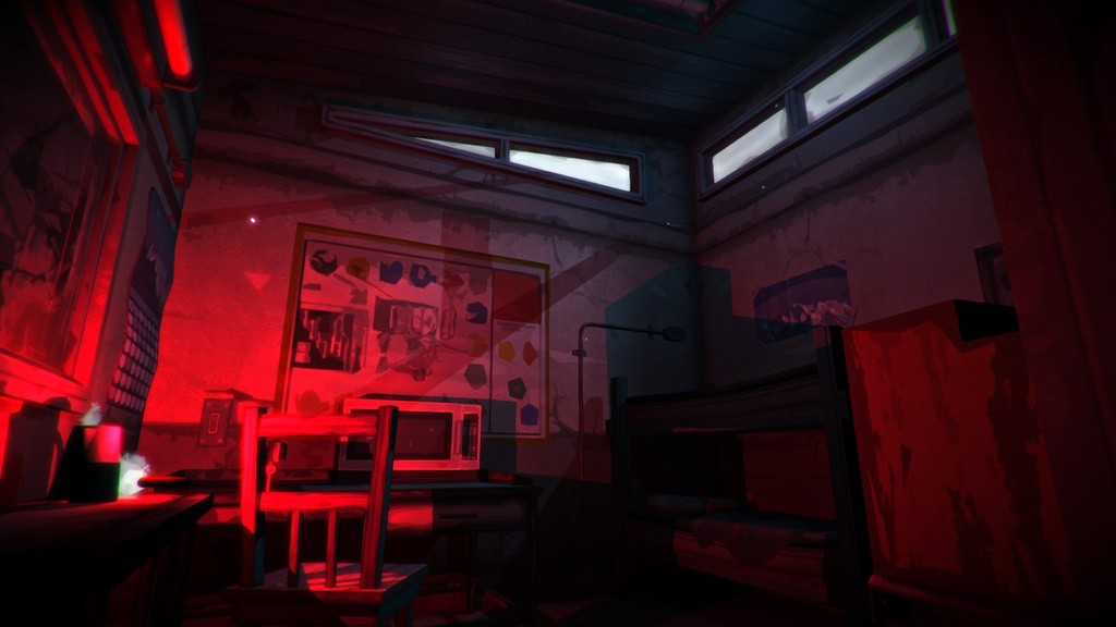 An abandoned home in The Long Dark, for player respite.