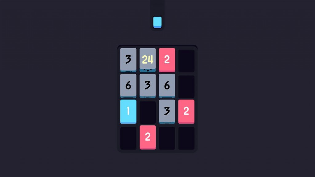Threes in night-mode on Xbox One version