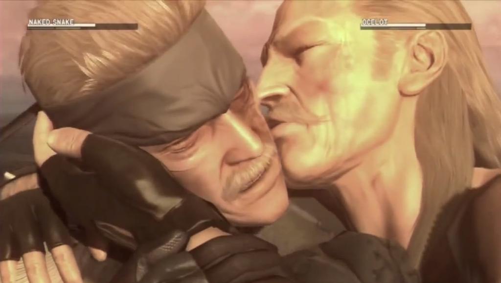 Ocelot kisses Snake mid-fight // Metal Gear Solid IV, Konami