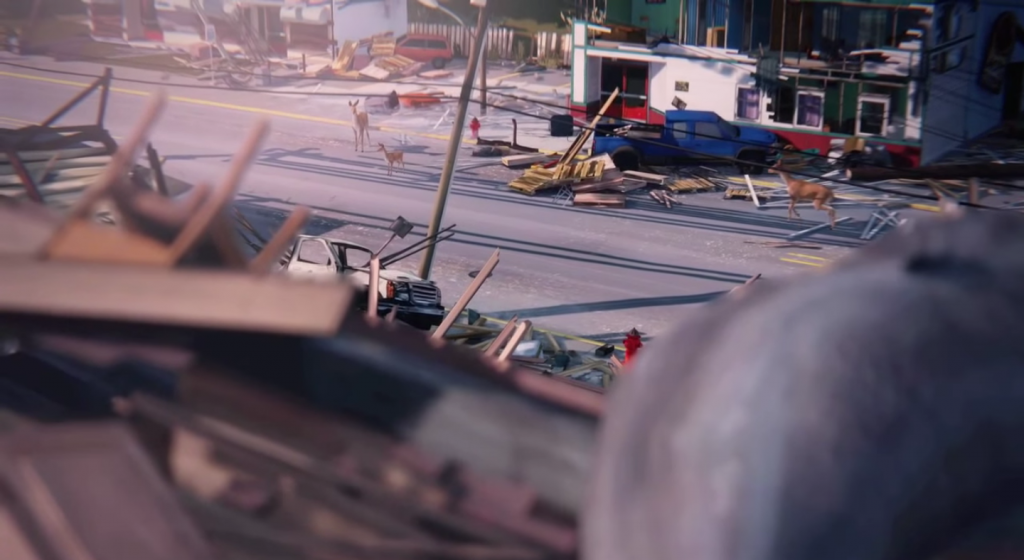 The destruction of Arcadia Bay in Life is Strange