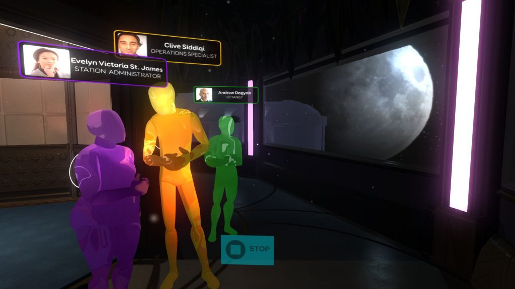 AI projections of crew members in Tacoma