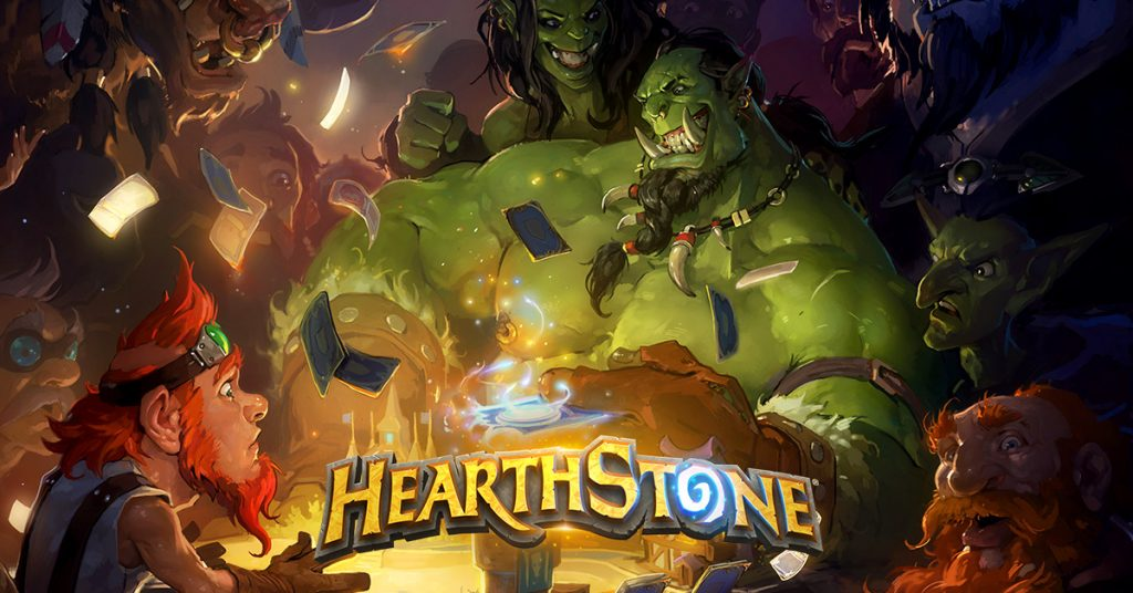 "The new Hearthstone logo sans ""Heroes of Warcraft"""