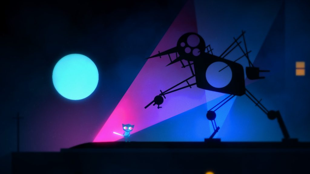 Mae's lucid dream of a giant metal bird in Night in the Woods